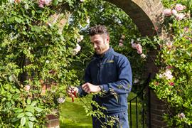 A gardeners in Dorset.
